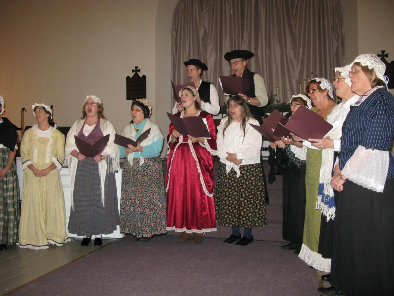 Scene from Candia's 250th Anniversary Play