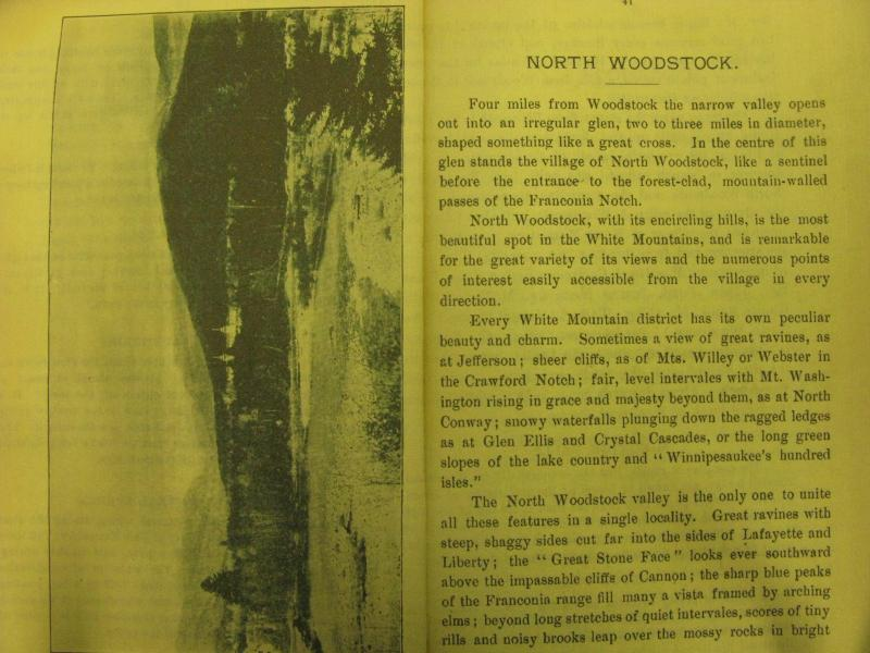 Old guidebook describing North Woodstock
