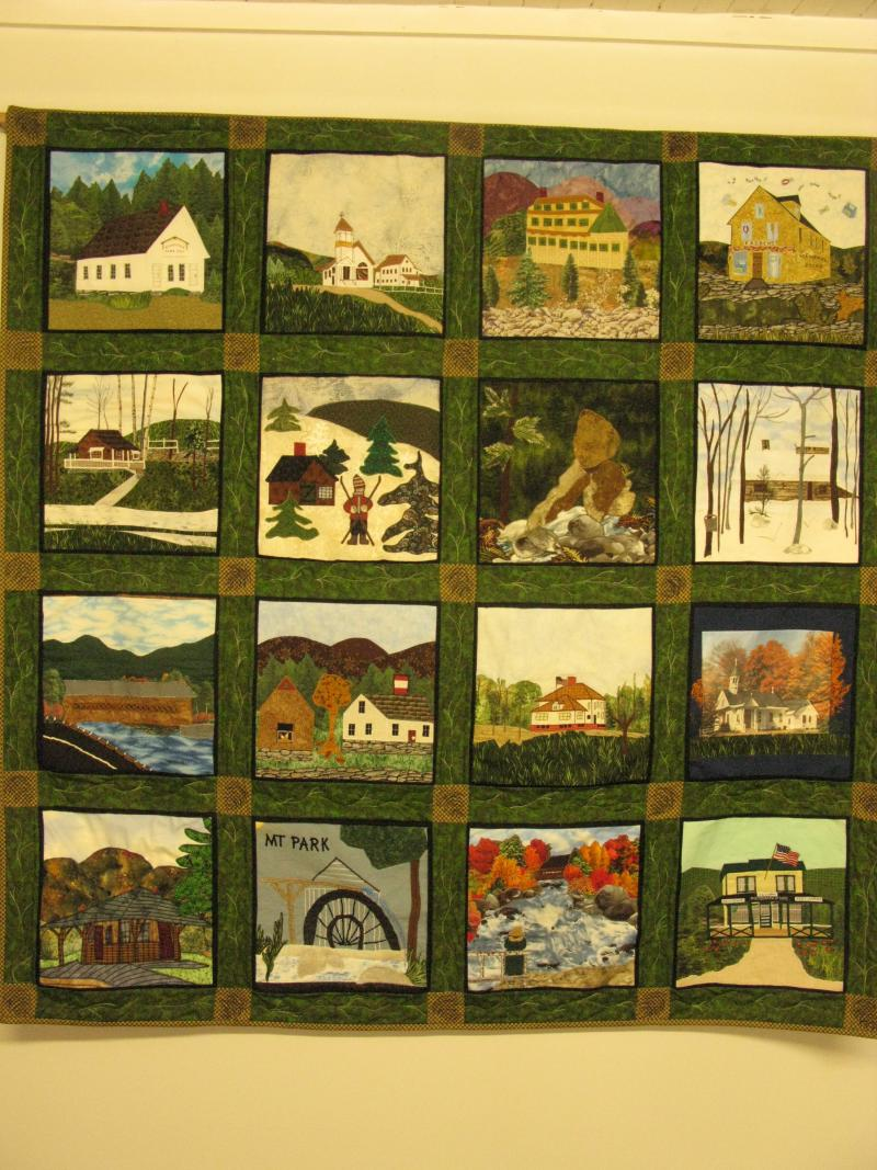 Quilt made for Woodstock's 250th Anniversary
