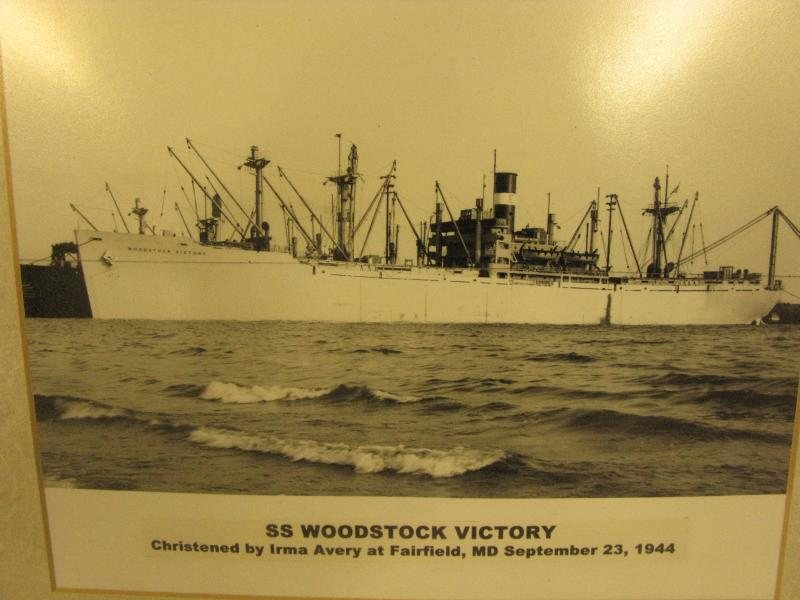 The Victory Ship, S.S. Woodstock at sea