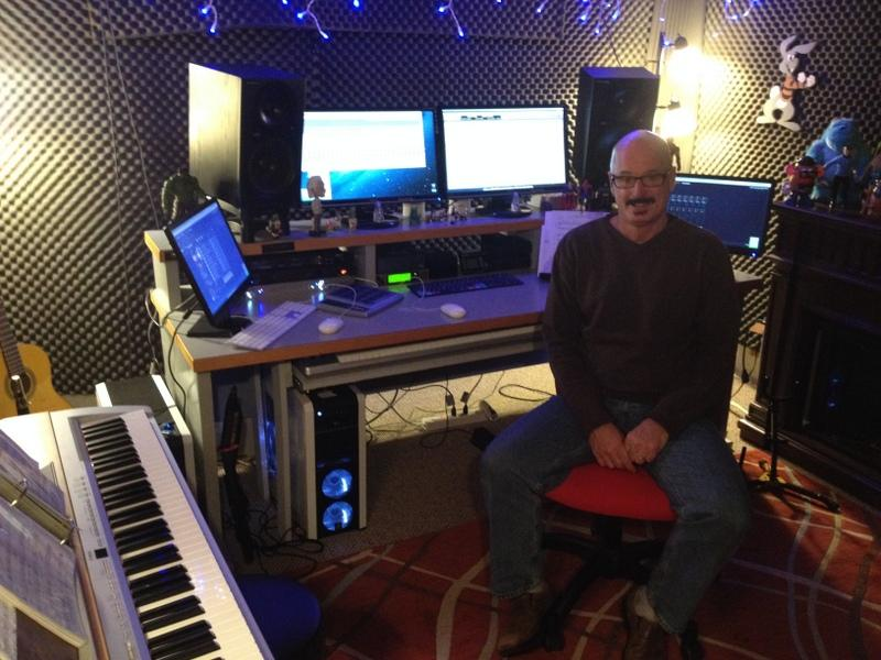 Rik Pfenninger in his home studio.