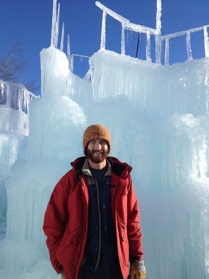 Cory Livingood in the Ice Castle