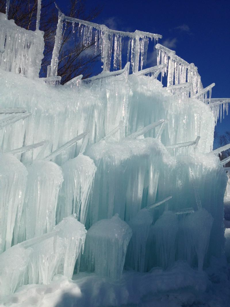 Each icicle is placed by hand.