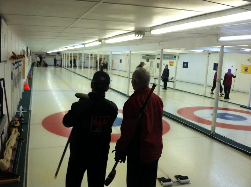 Eighteen teams took part in the Christmas mixed bonspiel at the Nashua Country Club.