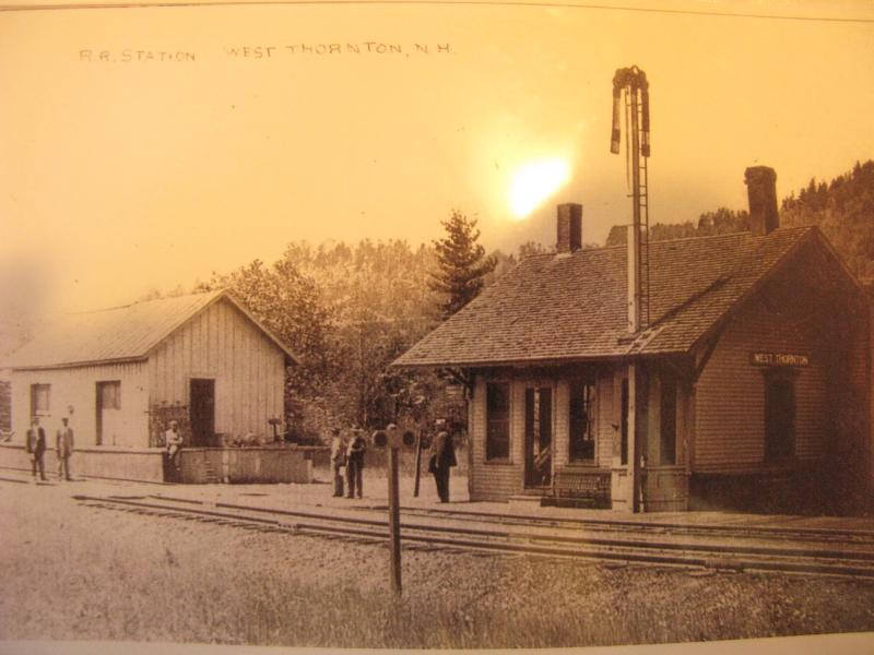 Old photo of the Railroad Station at West Thornton