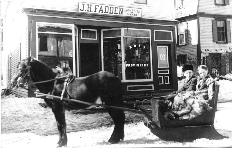 Old photo ouside the Fadden General Store in Woodstock