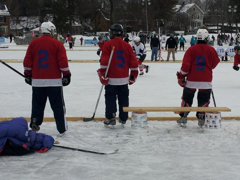 Pond Hockey Players