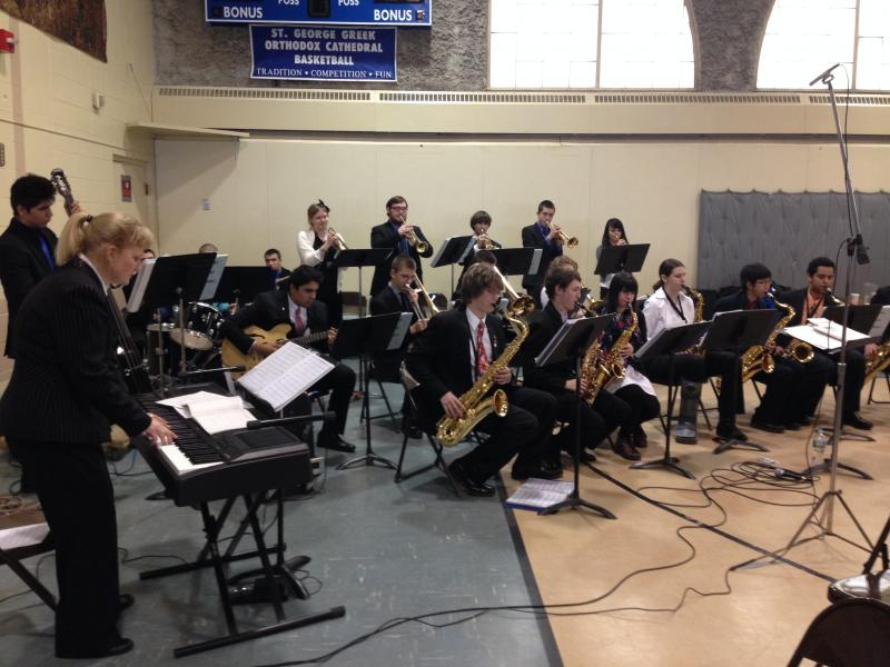 The music was provided by the Manchester High School West Jazz Ensemble