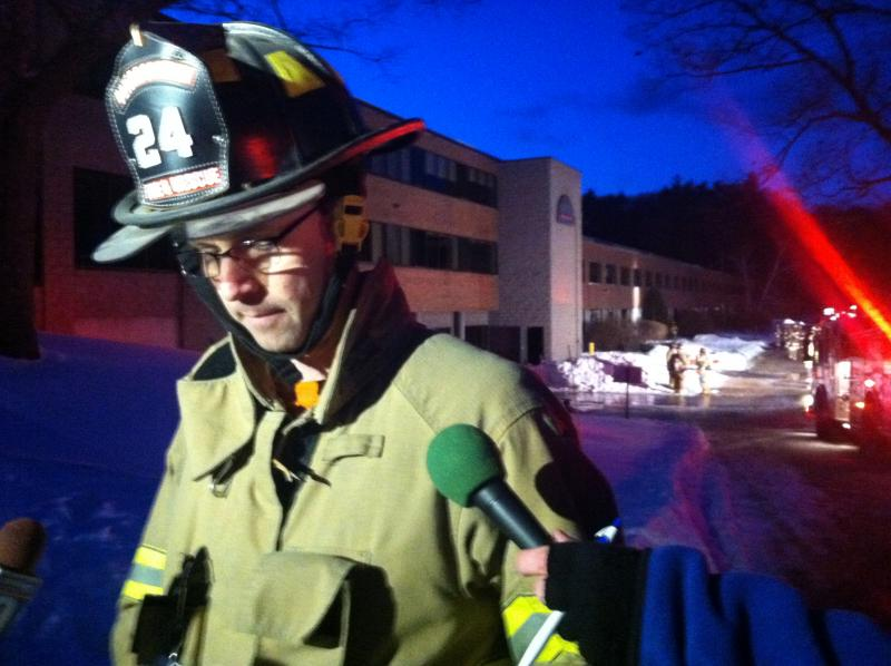 Eric Bowman with the Peterborough Fire Department