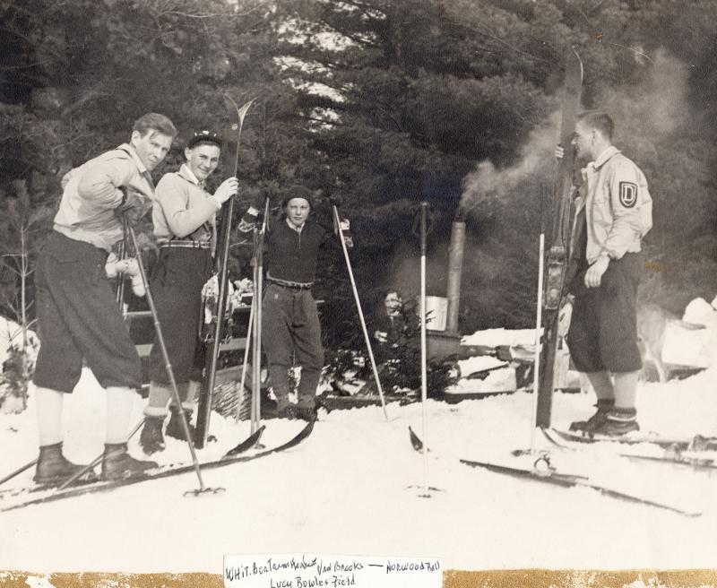 (Left to right) Whit Brooks, Bert Herbert, Van Brooks, and Norwood Ball. Taken in Lucy Bowles Field, Franconia