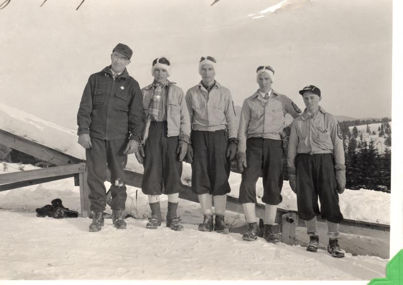 Whitefield ski jump, 1936