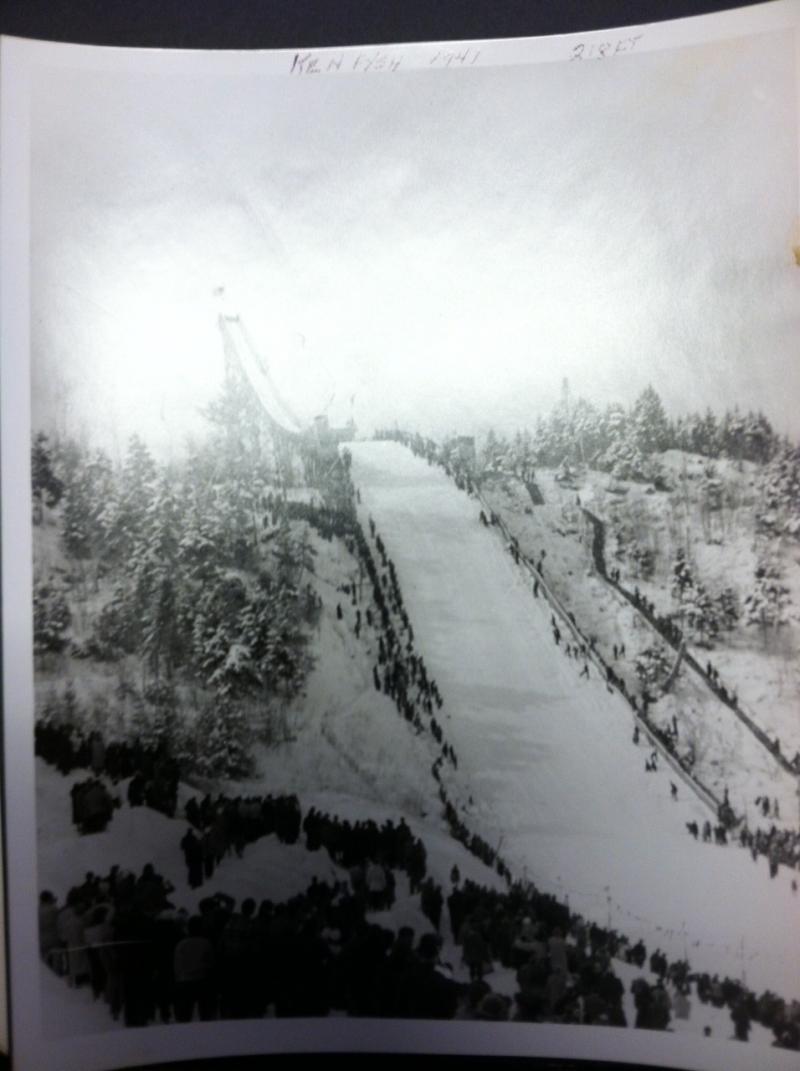 This image of the Nansen Ski Jump was taken in 1941.