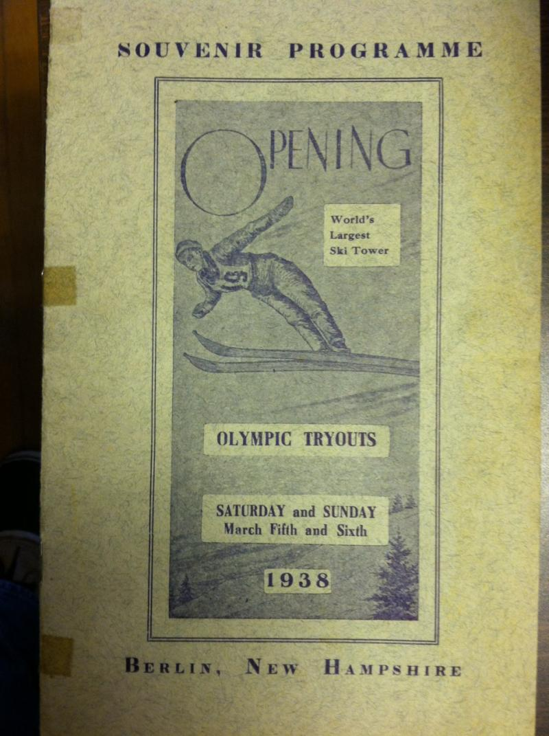 The program from the Winter Olympic Trials held at the Nansen Ski Jump.