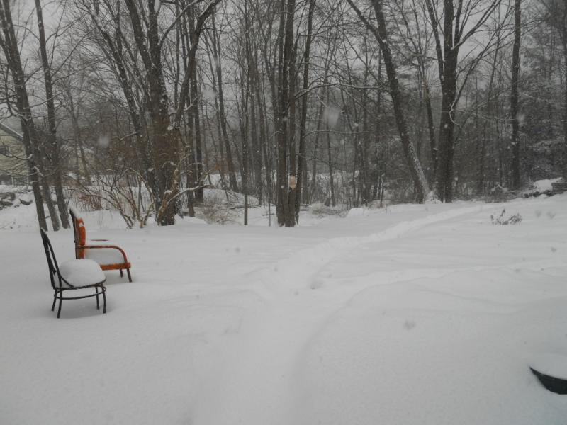 Melancholy Snow Covered Patio Furniture