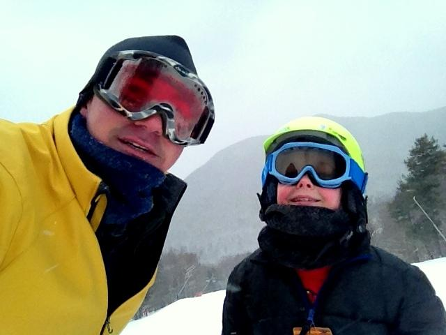 Sean and Sam Hurley ski Loon