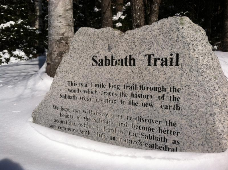 "The ""Sabbath Trail"" starts just outside the church."