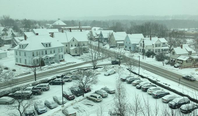 The view from NHPR's studio in Concord, N.H. at 10:40 a.m.