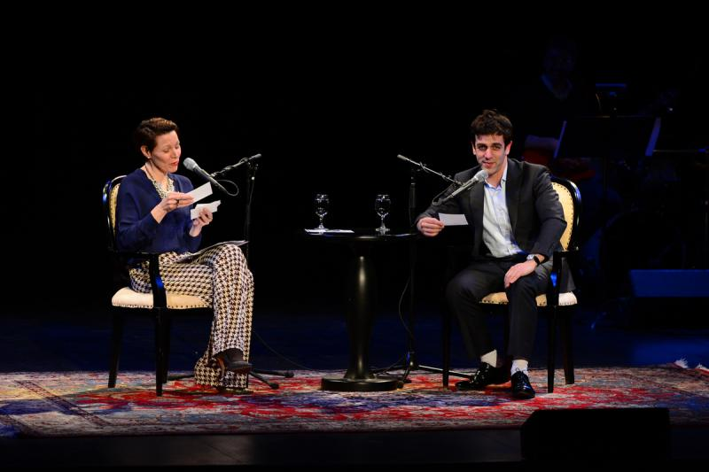 B.J. Novak sits down with host, Virginia Prescott