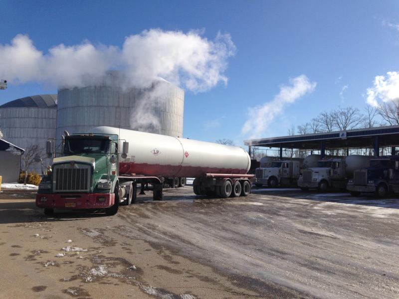 A truck fetching propane at Sea-3's terminal in Newington, NH