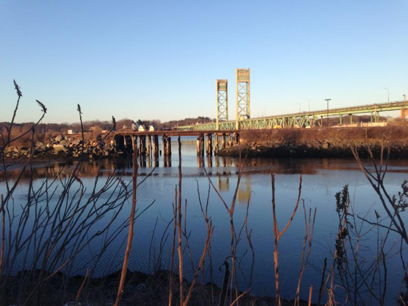 Railroad trestle in Portsmouth, NH