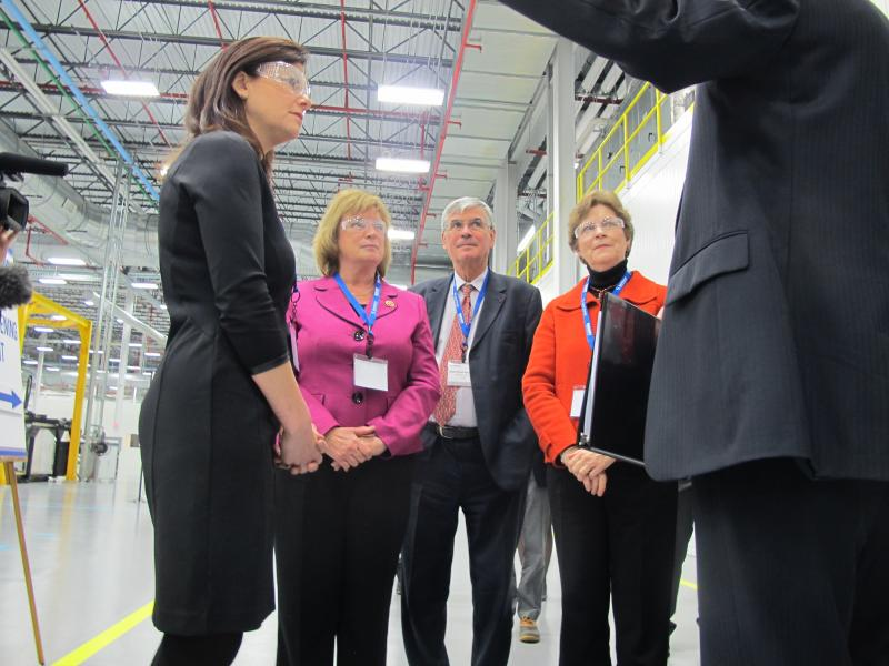 Senator Kelly Ayotte, Congresswoman Carol Shea-Porter, and Senator Jeanne Shaheen (from left to right).