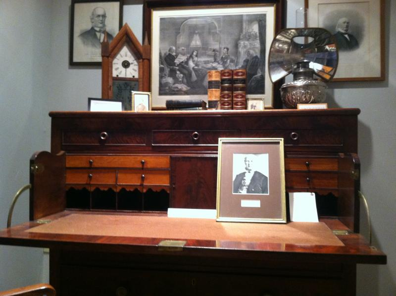 Horace Greeley's desk is one of the artifacts inside the museum.