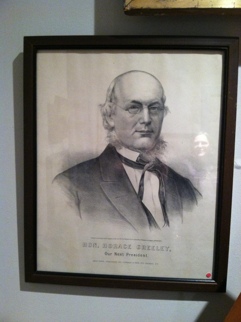 Memorabilia from Horace Greeley's bid for president in 1872.