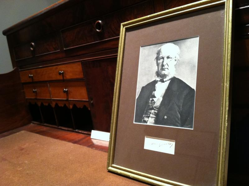 The Amherst Historical Society maintain a Horace Greeley room inside the Wigwam Museum in town.