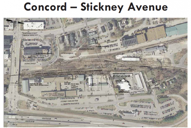 Possible plans for Concord train station
