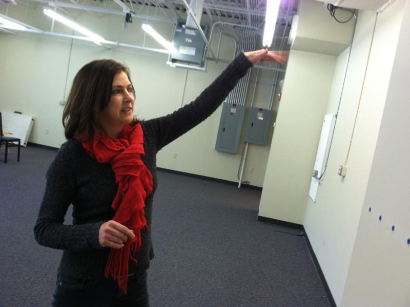 Wendie Leweck with the Granite State Arts Academy talks about the renovations she's making to the school's building in Derry.