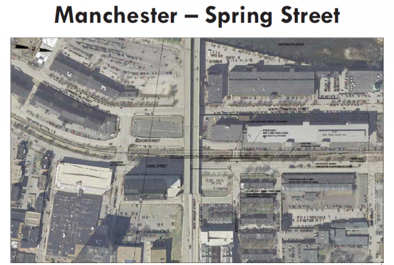 Possible plan for north downtown Manchester station