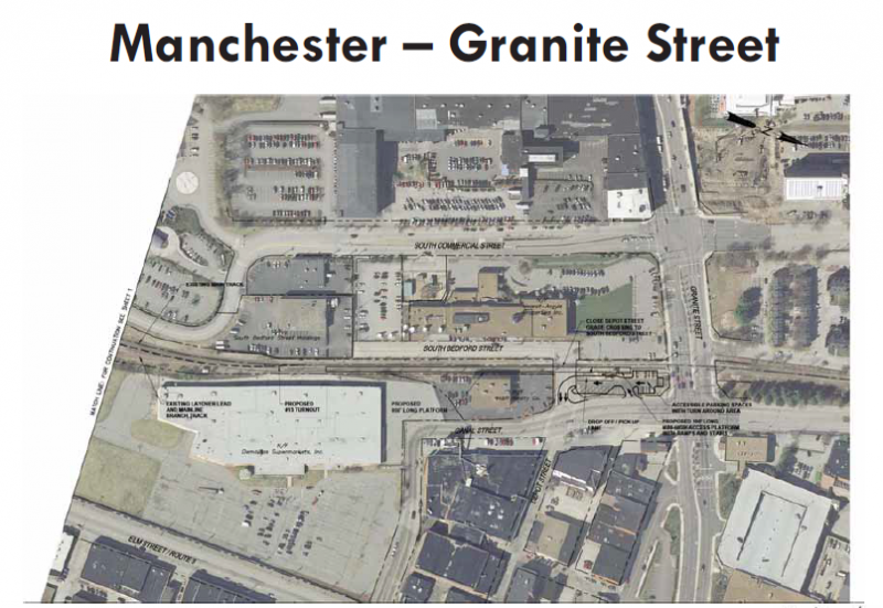 Possible plan for south downtown Manchester station