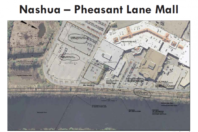 Possible plan for Nashua mall station