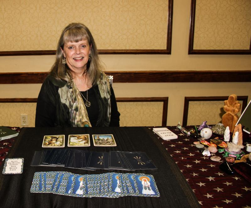 Judy Seidl and her cards.