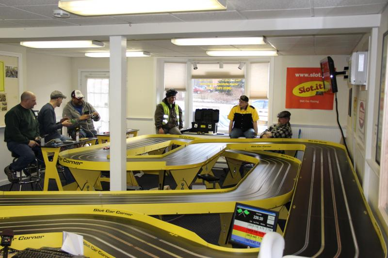 Saturday afternoon racing at Slot Car Corner