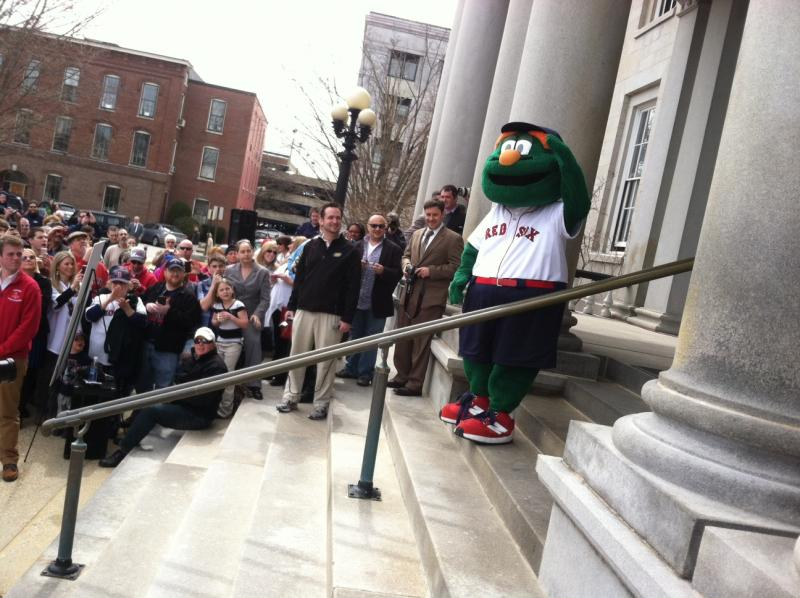 Wally the Green Monster made an appearance at the event.