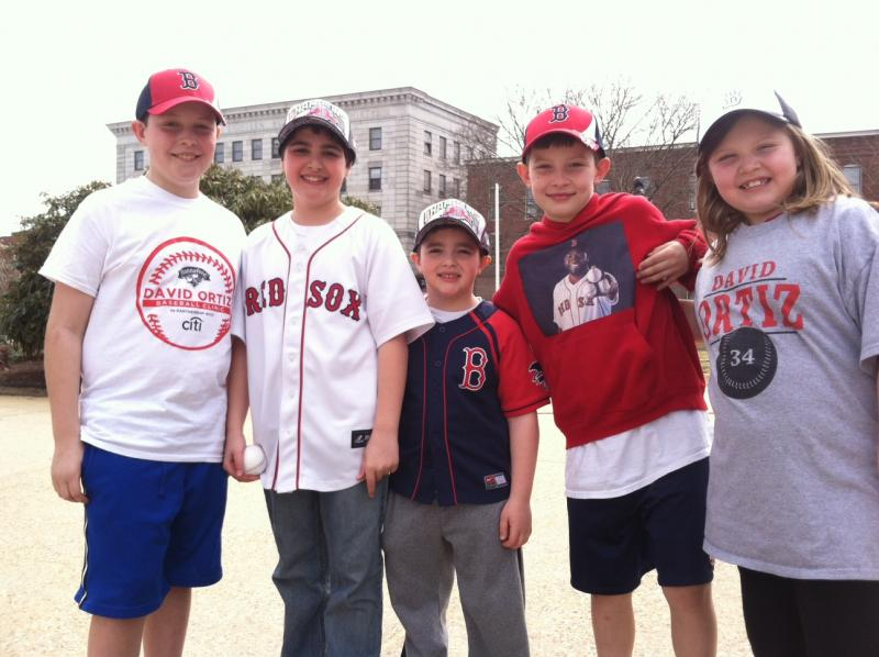 A group of young Red Sox fans from Concord were among hundreds of people at the event.