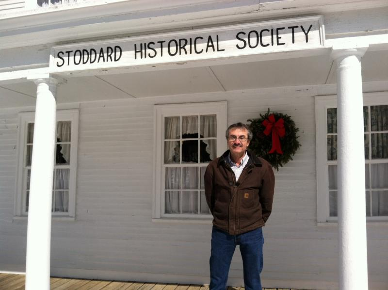 Alan Rumrill outside of the Stoddard Historical Society.