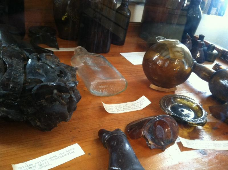 The collection is kept under glass.