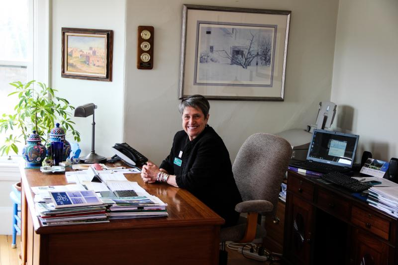 President Kathy Eneguess in her office.