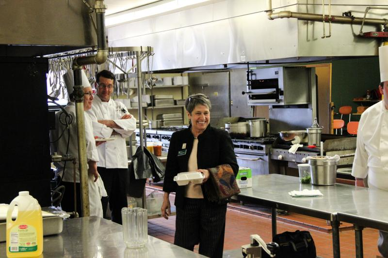 President Eneguess and culinary staff.