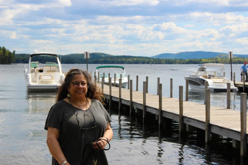 Joanne Parise on Wolfeboro Bay