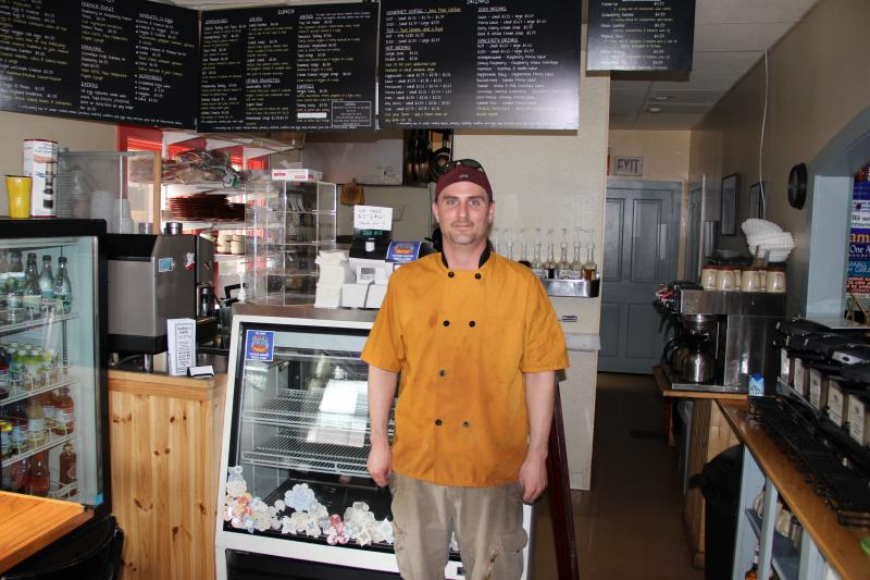 Hunter Emory owns Lydia's Cafe in Wolfeboro.