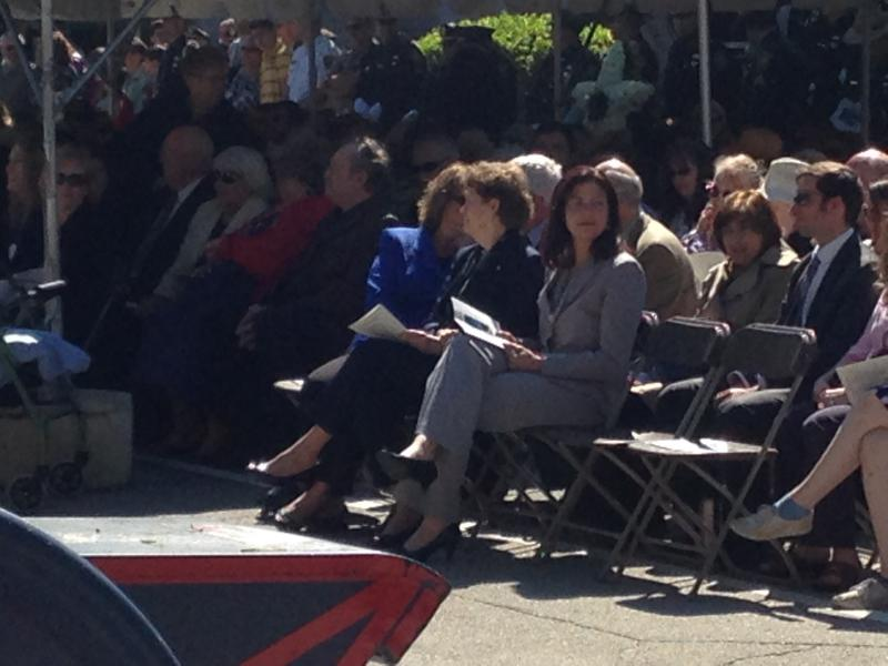 Congresswoman Shea-Porter, Senator Shaheen and Senator Ayotte sit together in the front.