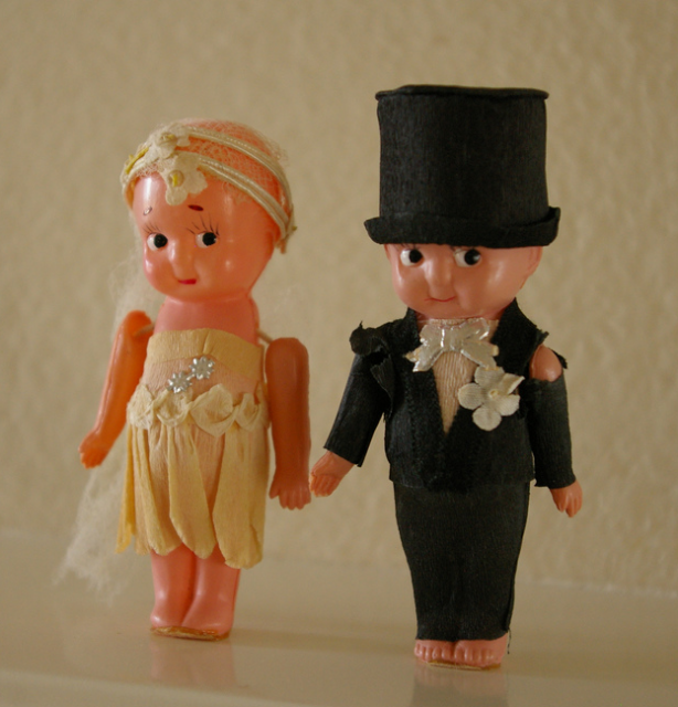 "This vintage kewpie topper might only be suitable for a ""Ravages of Time"" theme."