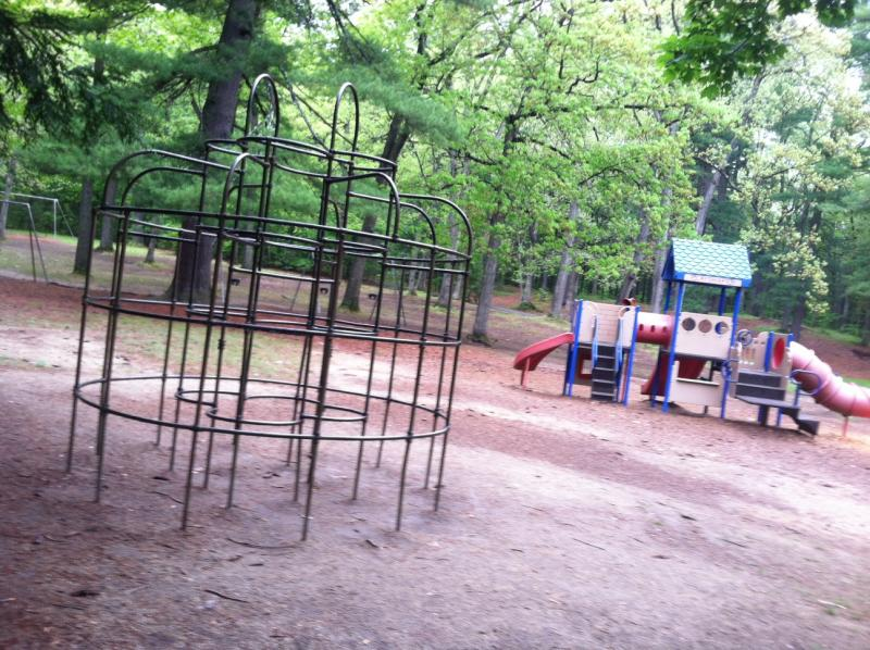 The playground dates back 70 years, aside from one area, seen to the right.