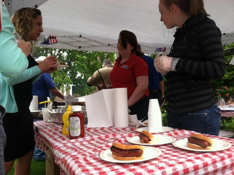 The various companies offered up free food off the grill, much of it donated by local farms.