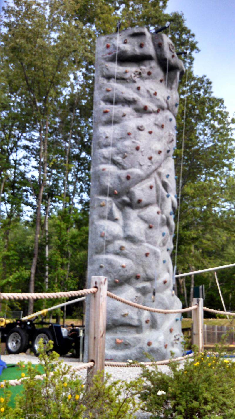 ...Unless you're climbing this rock wall.
