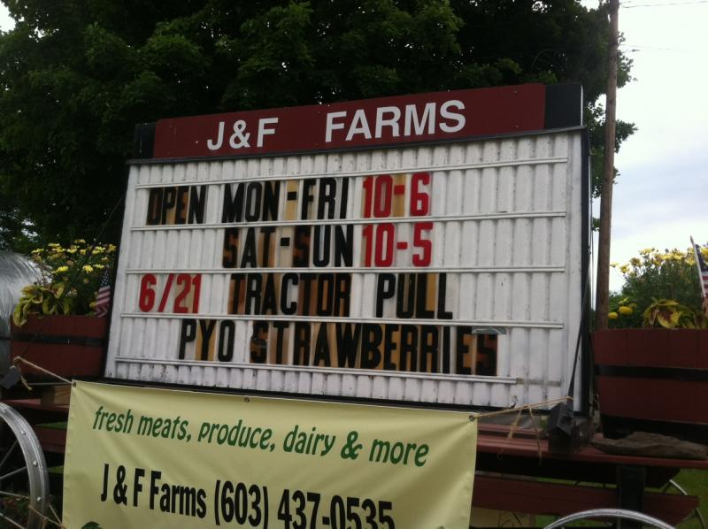 In addition to strawberries, J&F Farms offers its own meat for customers.