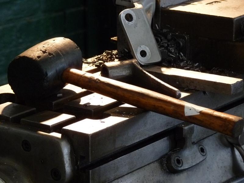 Tools inside Siegl's shop